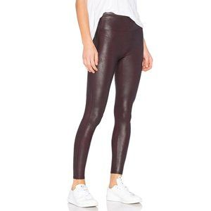 Spanx Faux Leather Sculpt Leggings In Wine Color